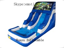 mini cartoon character inflatable water slide,high in quality and low in price