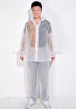Wholesale strong clear transparent breathable plastic waterproof adult rain suits snow suits