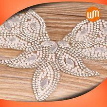 Professional Crystal Supplier New Design crystal rhinestone ribbon/diamond wrap
