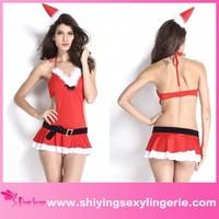 Hot Sale Wholesale Miss Santa Lingerie childrens halloween costumes