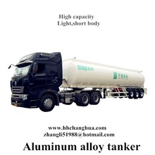 milk tank edible oil , vegetable oil aluminum tank semi trailer, (tank shape and volume optional as client request)