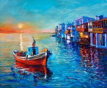 Dropship ocean scenery hand painted art canvas oil painting for decor hot sale