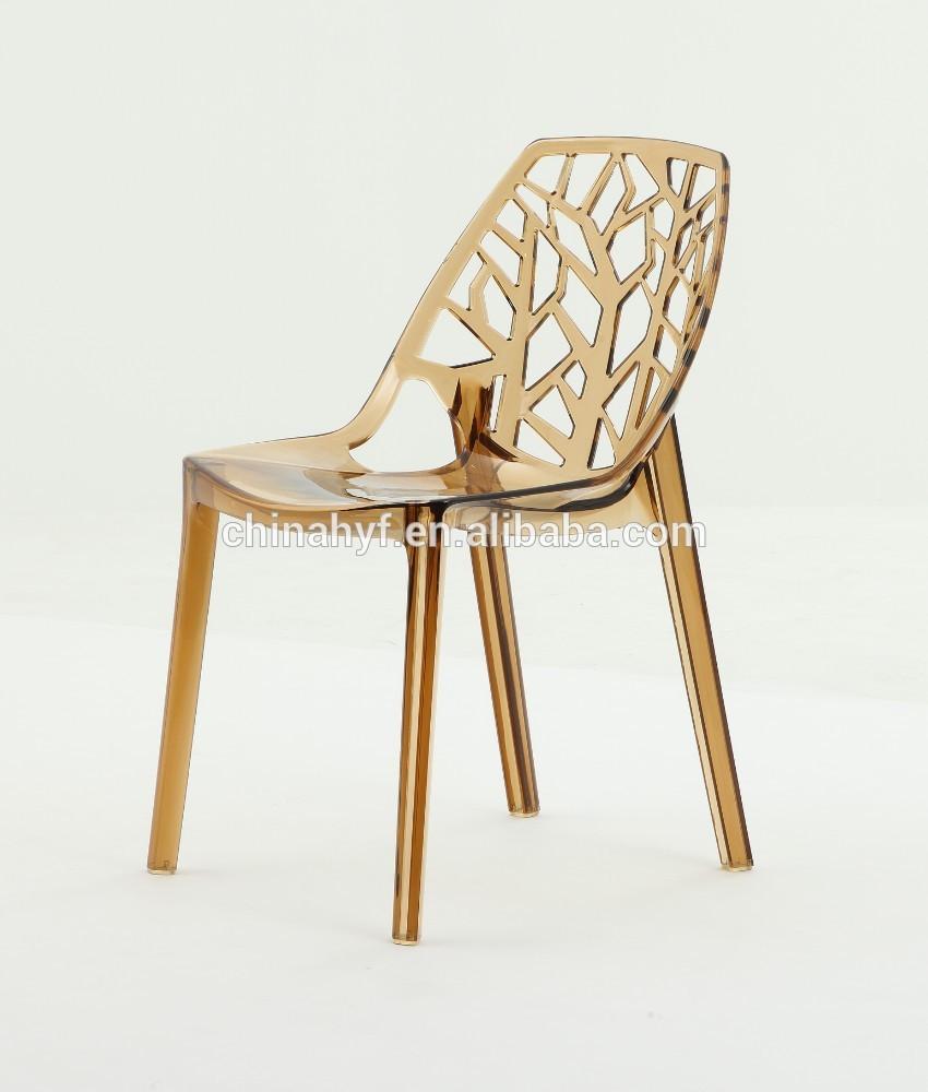 Design moderne chaise en plastique cristal acryliqu