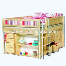 2015 Newest wooden kids bedroom set wholesale,best seller high quality kids bedroom set WJ278349-A1