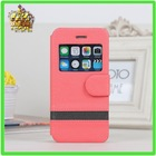 2014 LZB Wholesale flip cover cell phone leather case for iphone 5