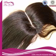 "Alibaba Express Middle part Straight Natural Color Brazilian Virgin Hair Silk Base Top Closure(4""x4"") Accept Paypal"
