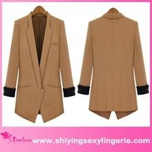 New Wholesale Camel Open-front Long women winter coats