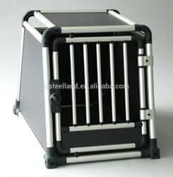 new design waterproof shockproof folding aluminum pet cage case for car