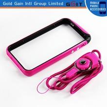 With Neck Strap Bumper Frame TPU Case For iPhone 5 TPU Bumper