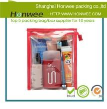 oem promotion clear pvc zip swimwear packaging