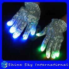 Designer Promotional Blasting Flashing Novelty Gloves