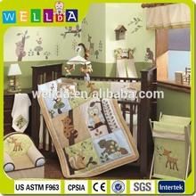 Frog baby crib bedding set / nursery baby cot set