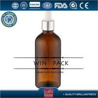 Designer most popular dark green empty glass dropper bottles