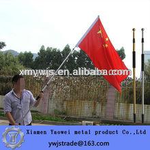 High quality 3m aluminium alloy telescopic hand held flagpole out door flagpole