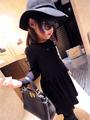 Crianças menina petty prático coringa super agradável malha vestido bz-779