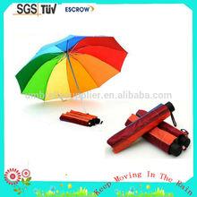 Customized professional folding water mark printing umbrella