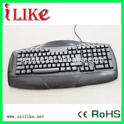 macro computer USB wired multimedia gaming keyboard kb120