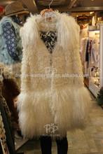 snow white tibet lamb fur fro garment
