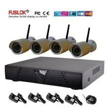 4CH NVR Wifi IP Camera Kit including 1pcs H.264 NVR and 4pcs 720P Wifi IP Camera Security System Wireless IP Camera Kit