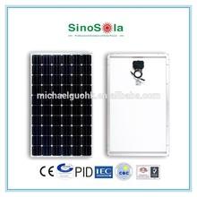 high efficiency 300 watt monocrystalline solar panel for solar system power plant with TUV/PID/CEC/CQC/IEC/CE