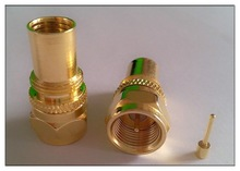 F male crimp connector F male Gold plated, Coaxial connector, RF connector, pcb