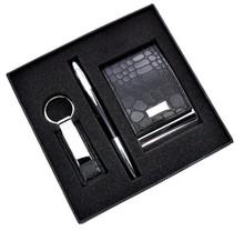 Popular Promotional card holder leather Business Gift Set