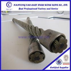 DIN GB/T standrad 6x25FI+FC zinc galvanized sclass A.AB.B Steel wire rope for excavator lifting