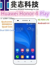 "Original Huawei Honor 4 Play 4G FDD LTE WCDMA 3G Qualcomm MSM8916 Quad Core 5 ""1280*720px 8.0MP Android 4.4 Smartphone Dual SIM"
