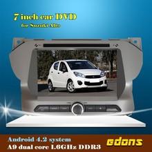 Pura 4.2 android pantalla táctil 7 pulgadas 1 din dvd del coche para suzuki alto