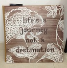 Beautiful Flower Prints for Decorative Wall Art/ Solid Wood Letter Plaque Art