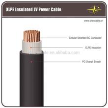 single core copper conductor xlpe insulation 0.6/1kV CU/XLPE/PVC low voltage power cable undergroud cable
