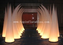 LED lighting decoration/inflatable decoration for party/inflatbale cone with led lighting