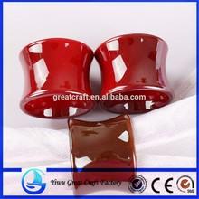 UV electroplating cylinder red napkin ring