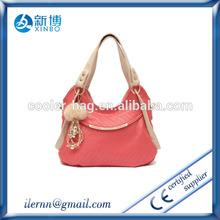 heart shape handle faux leather ladies cut grab bag