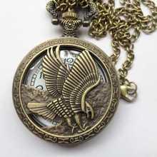 2015 más caliente de nuevo de navidad collar de bronce de la cadena de reloj de bolsillo reloj de moda piezas del mecanismo