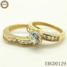 ALL FINGER GOLD STEEL FOR COUPLES DIAMOND RING