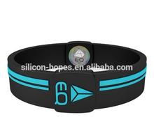 Custom text high relief silicone Epoxy bracelet