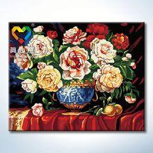 flower vase painting designs 40x50cm fish metal wall art