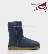 5825 Navy classic short Twin face sheepskin snow boot