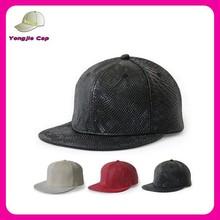 Hip Hop Punk Rock Unisex bulk china wholesale custom PU leather blank snapback cap