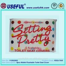 5pcs Wallet Flushable Toilet Seat Cover