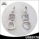 fashion fake silver rhinestone middle east style earrings