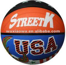 2015 new style custom rubber basketball/manufacturer