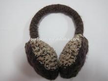 Winter Simple Cute Acrylic Fibers Unisex Knitted Plush Earmuffs