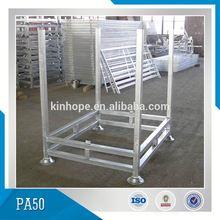 Warehouse Steel Pallet Cage Folding Metal Storage Cage