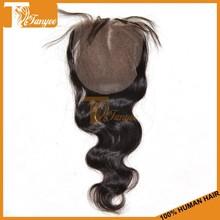 New Arrival Grade 6A 100% Virgin Remy Hair Body Wave 4*4 Bleached Knots Brazilian Hair Closure