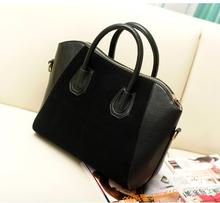 Hot Sale! Bag fashion bags 2013 patchwork nubuck leather women's handbag smiley shoulder bags