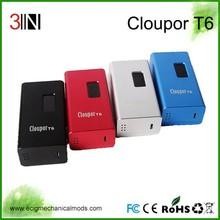 Shenzhen Alibaba China Supplier High End 100W Box Mod , Original Newest 100W Box Mod Cloupor T6 Box Mod