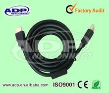 wholesale rohs 90 degree flat slim bulk audio micro mini hdmi cable