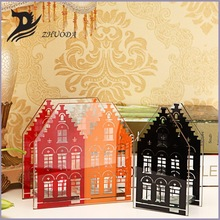house shape replacement glass candle holder
